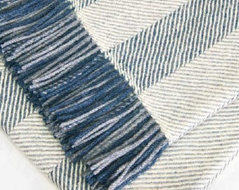 FREE SHIPPING to USA - 100% Premium  herringbone Woven Baby Alpaca Throw Blanket -  Broad Selection of blankets made in Peru