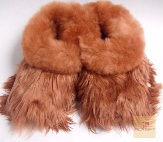 d82ccac341916 Warm, 100% Baby Alpaca Fur Fuzzy Slippers- Suri Slipper for Men, Women,  Luxury Gift for any occasion Brown, Black - Beige