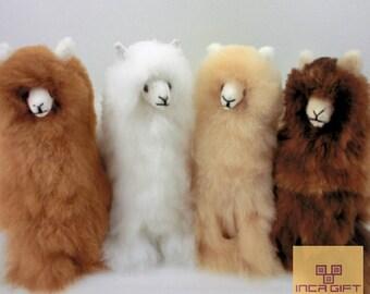 14 IN 6 IN Handmade Alpaca Stuffed Animal Plush Alpaca 13 -9 IN/ Llama  fur teddy alpaca handmade Peruvian alpaca fur stuffed animal toy