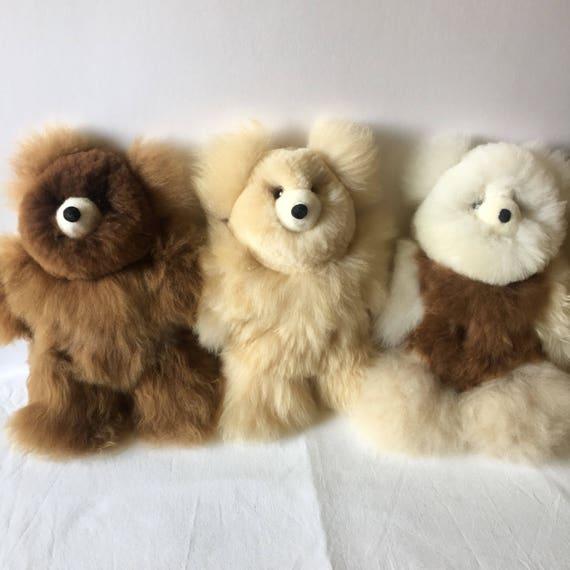 100 Real Baby Alpaca Fur Teddy Bear 6 In 15 In Assorted Etsy