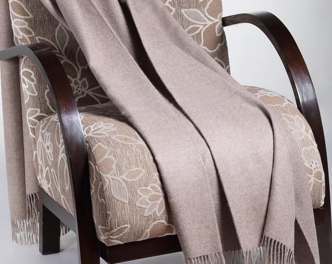 Sand 100% Baby Alpaca Throw Blanket - Woven blankets made in Peru