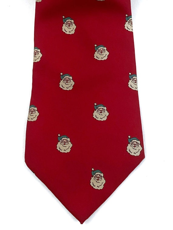 Vintage Wembley Pure Silk Christmas Tie Santa Red 60s?