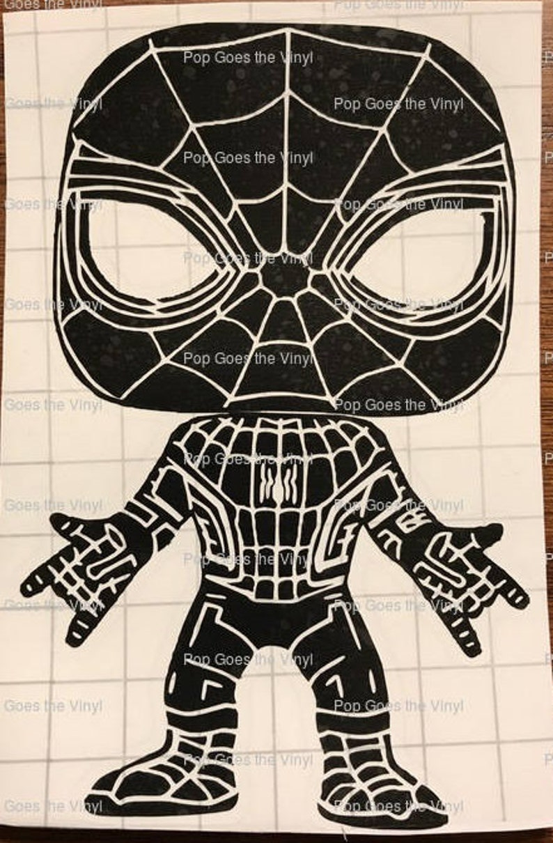 Vinyl Sticker Inspired by Funko Pop Spider-Man 220 from Spider-Man  Homecoming