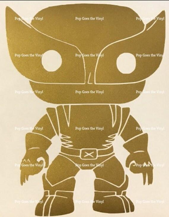 VINYL STICKER INSPIRED BY FUNKO POP WOLVERINE 05 FROM MARVEL UNIVERSE