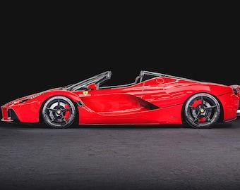 Ferrari LaFerrari Aperta 654P Premium High Gloss Art Print Poster. 24\u201dx36\u201d