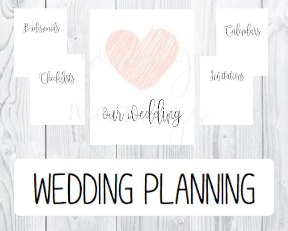 Wedding Planning PRINTABLE Section Divider Pages