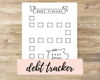 Debt Tracker: Bullet Journal Printable
