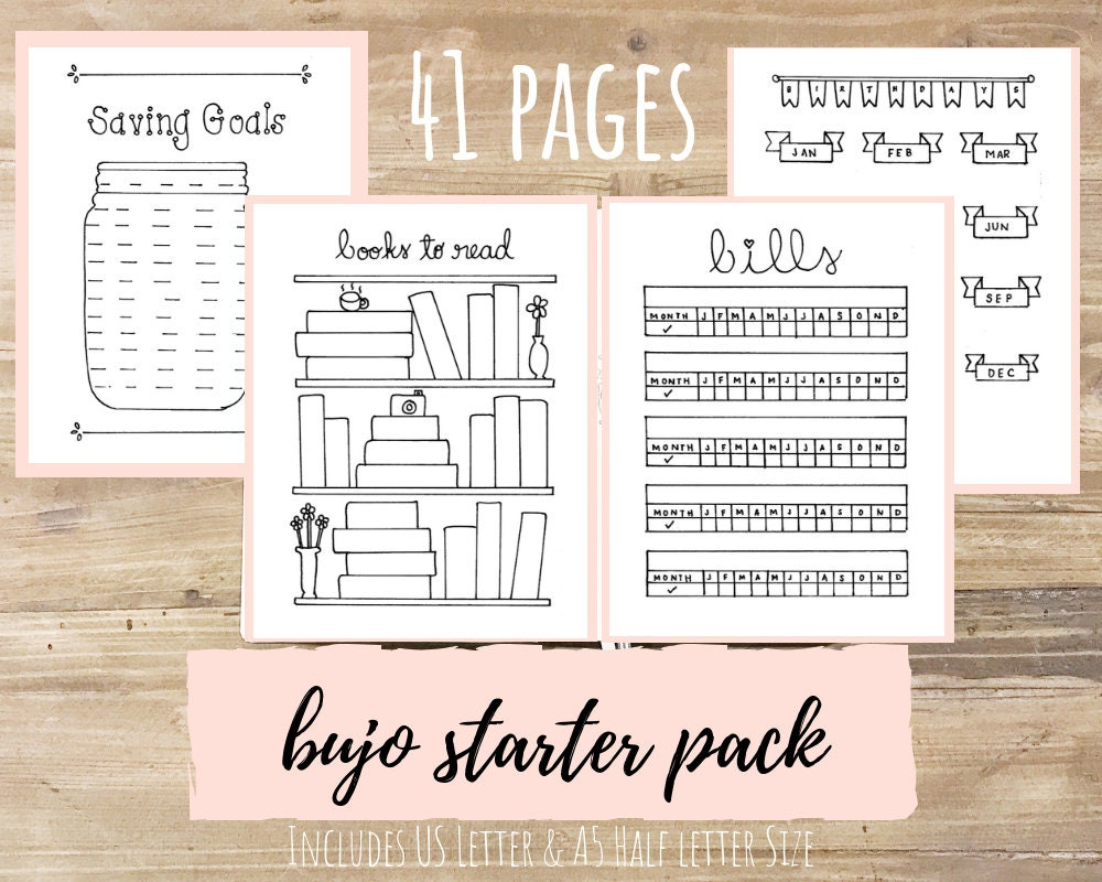 This is a picture of Unusual Free Bullet Journal Printables 2020 Pdf