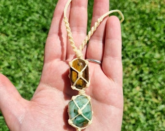 N2049 Green Jade Pendant Jade Necklace Gemstone Jewelry African Jade Jewelry Wire Wrapped Gemstone Necklace Copper Necklace