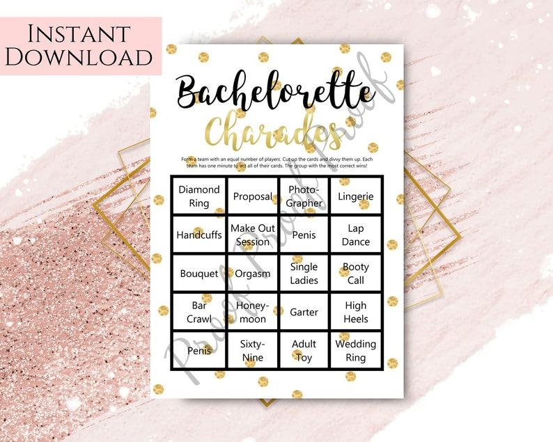 picture about Charades Printable referred to as Bachelorette Charades, Bachelorette Bash Game titles, Printable Templates, Black Bachelorette, Gold, Chook Evening Video games, Sexual intercourse Online games, Improve Information