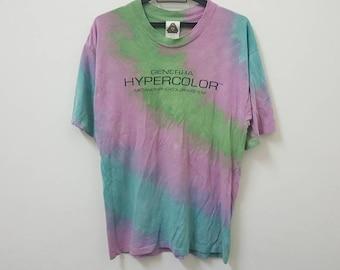 ab3e9c7d2 Vintage 90s HYPERCOLOR GENERRA tie dye made in usa single stitch pop hip  hop rap hype dope swag rare style t-shirt 90s trending