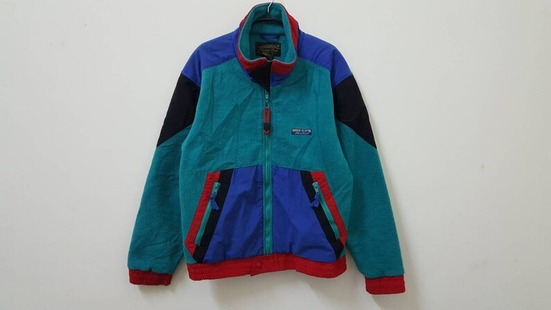 aec7e3c40 Vintage 90s EDDIE BAUER fleece jacket colorway rare nice design hype dope  swag style