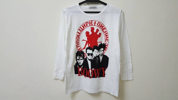 Vintage 80s 90s BOOWY japanese rock band tee singl
