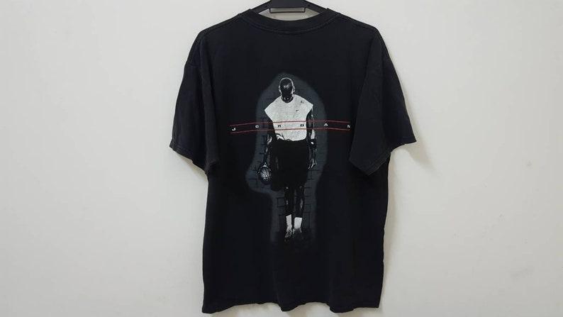 1cf25504fef13 Vintage 90s NIKE michael jordan jumpman logo distressed made in USA rare  hype dope swag style t shirt