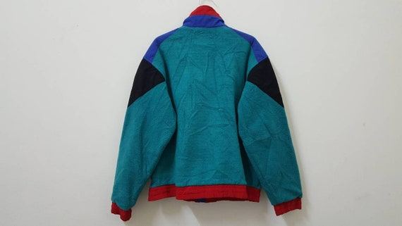 Vintage 80s 90s LE COQ SPORTIF nylon jacket color block colorway nice rare design hype dope swag hip hop rap style
