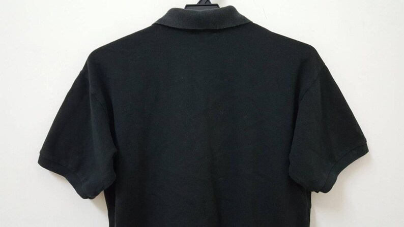 vintage 80s aD 1989 COMME DES GARCONS plain black japanesse designer minimalism polo t shirt