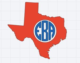 Texas Monogram Decal
