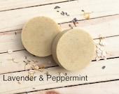 Lavender Peppermint - Essential Oil Handmade Soap Handcrafted Soap Cold Process Soap Goat Milk Soap Artisan Soap Vegan Soap Option