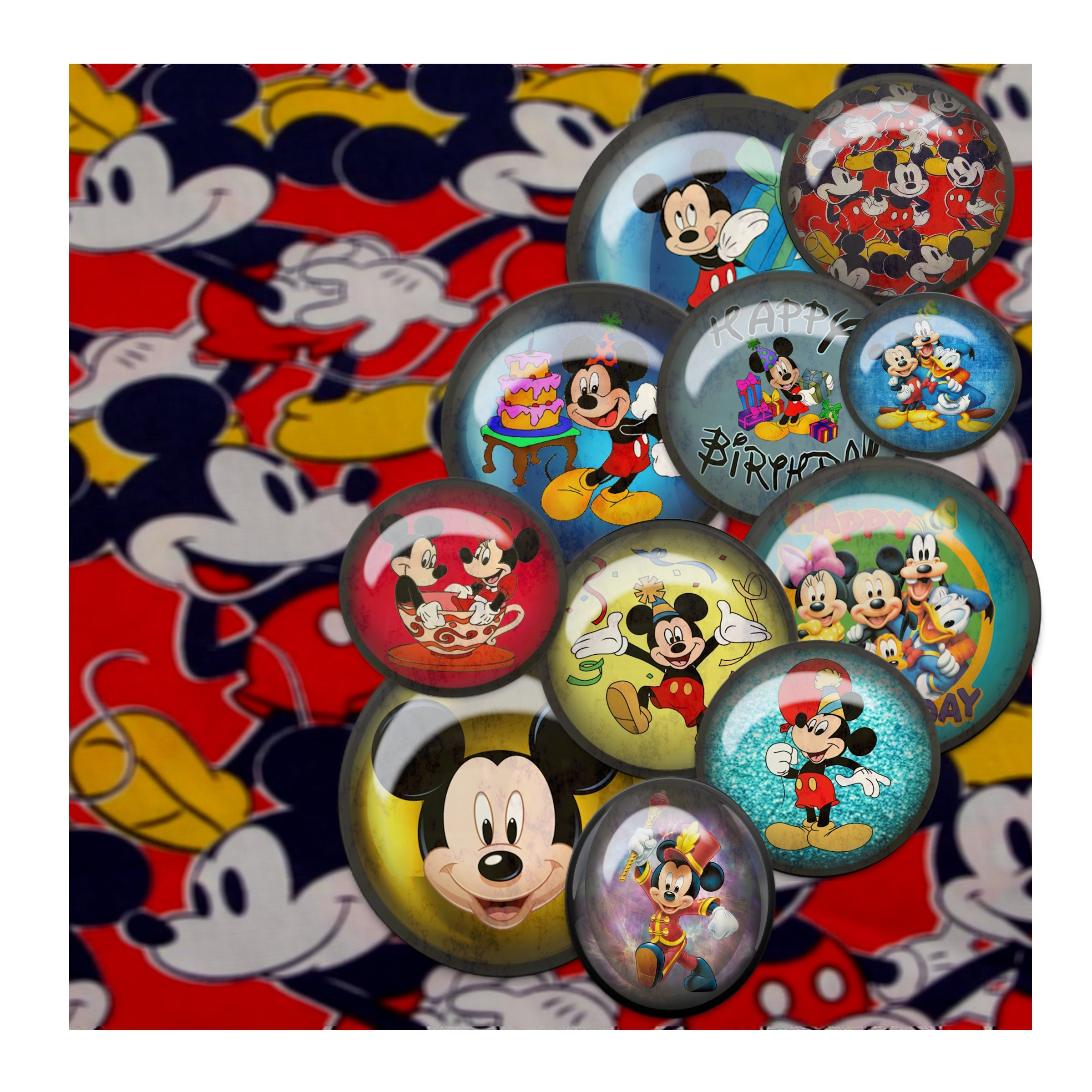 Digital Scrapbook kit Mickey Mouse and friends digital paper clip
