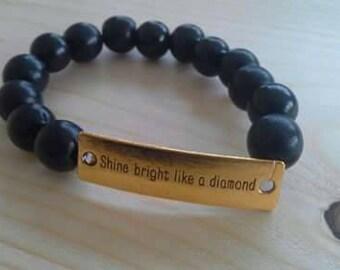 Bracelet dark blue black