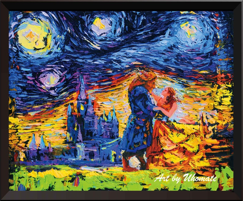 4b0daa466ba6 Vincent Van Gogh Starry Night Posters Beauty and The Beast