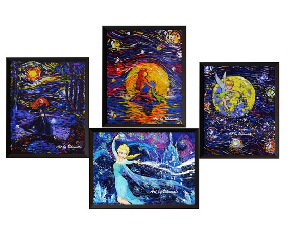 Uhomate The Little Prince Fox Le Petit Prince Little Prince Vincent Van Gogh Starry Night Posters Home Canvas Wall Art Baby Gift Nursery Decor Living Room Wall Decor A029 24X30