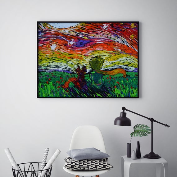 11X14 Uhomate The Little Prince Le Petit Prince Little Prince Vincent Van Gogh Starry Night Posters Home Canvas Wall Art Anniversary Gifts Baby Gift Nursery Decor Living Room Wall Decor A022