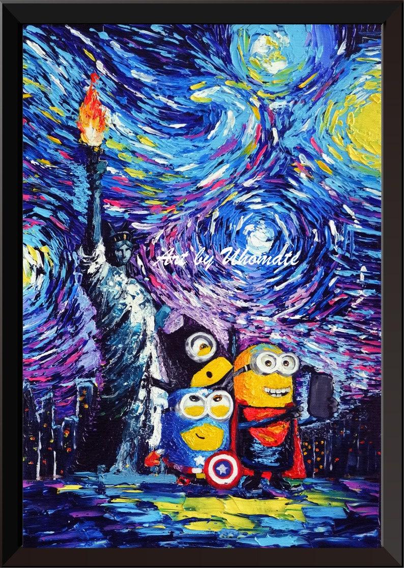 3de5f465119c Vincent Van Gogh Starry Night Posters The Minions New York