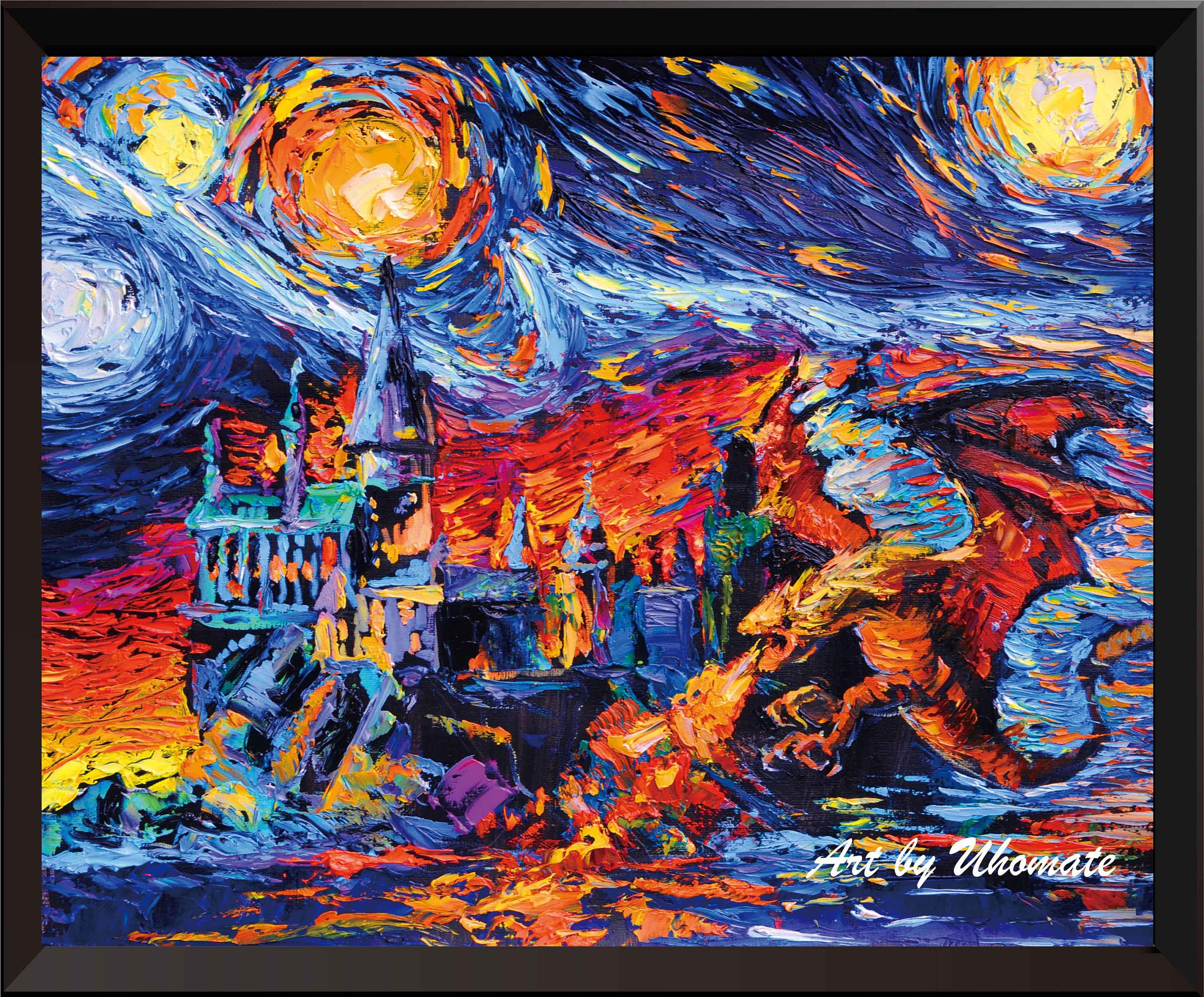 Vincent Van Gogh Starry Night Posters Harry Potter Inspired | Etsy