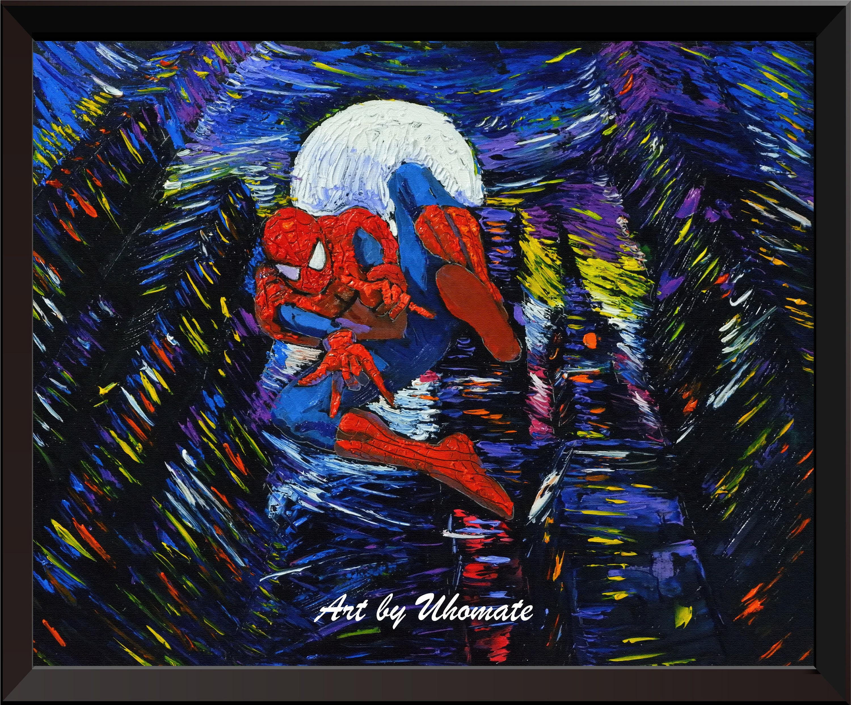 Vincent Van Gogh Starry Night Posters The Superhero Spiderman | Etsy