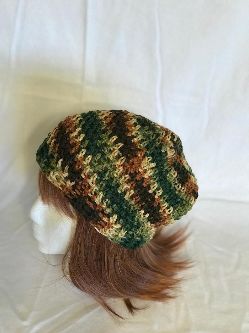 Camo Unisex Beanie Handmade Crochet
