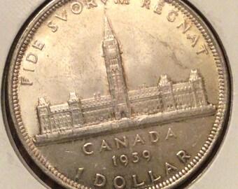 Canada 1939 Royal Visit Silver Dollar