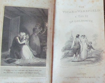 1823 Hardcover Miniature The Vicar of Wakefield a tale by Dr. Goldsmith