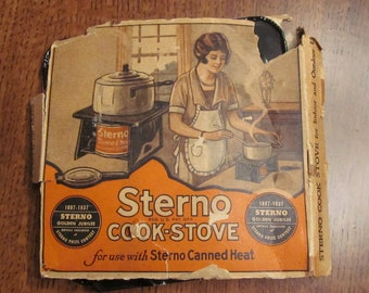 Vintage Sterno Cook Stove with original box 1940's