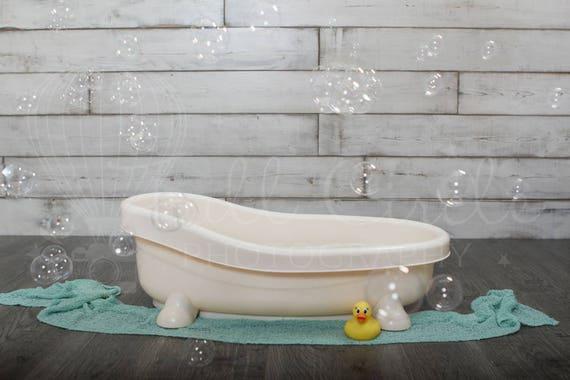 Baby Bath Digital Backdrop Props Newborn Photography Prop