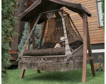 SWING BED with Wooden stand