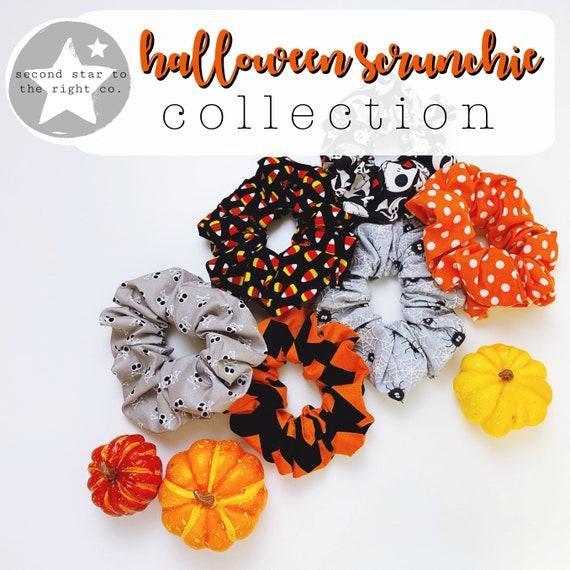 PUMPKIN Scrunchie  Spooky Scrunchie  Halloween Scrunchie  Fall Scrunchie