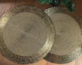 Gold Placemats Etsy