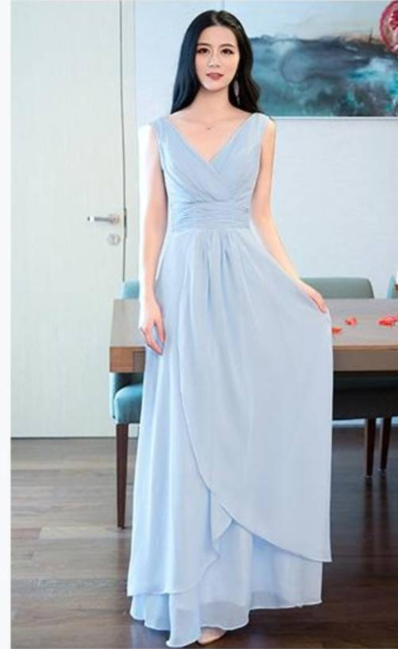 18afcf001b Pastel niebieski Suknie Druhna-Suknie ślubne-sukienki prom