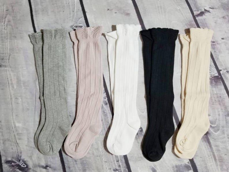 ed8ee00ef Baby knee high socks. knee high socks toddler socks over