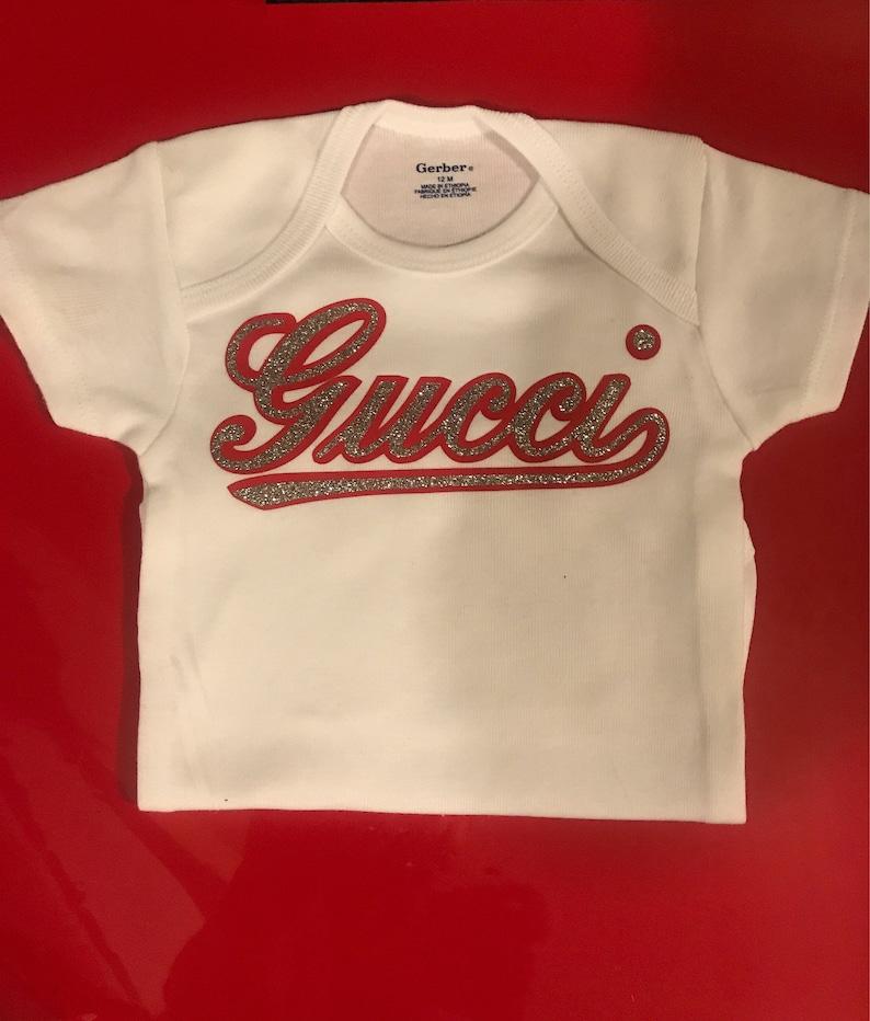 2b605523c Inspired Gucci bodysuitbaby fashion baby designer baby | Etsy