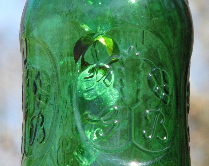 Green Grolsh stopper top beer bottle wind chime, Tree of Life pendant,  gifts for him or her, housewarming gift, garden decor, patio decor