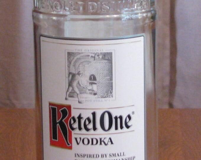 Ketel One vodka empty 1 Liter bottle, bottle crafts, liquor bottle for DIY projects, empty liquor bottle, bottle for craft projects