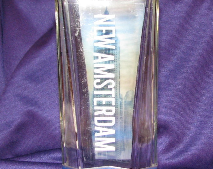 New Amsterdam vodka bottle vase, label on Empire State, wine gifts, wine lovers, gifts for her, housewarming gift, garden decor, patio decor