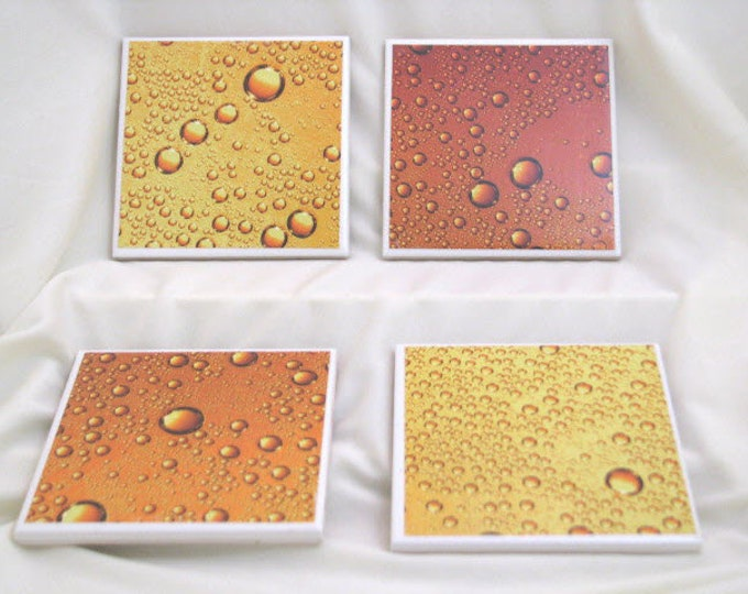 Coasters for Drinks - Beer bubbles images - Handmade Coasters - Beer Lovers - Teachers gift - Coasters - Drink Coasters - Decoupage Coasters