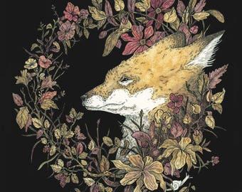 Autumn Fox Illustration ~ ORIGINAL artwork