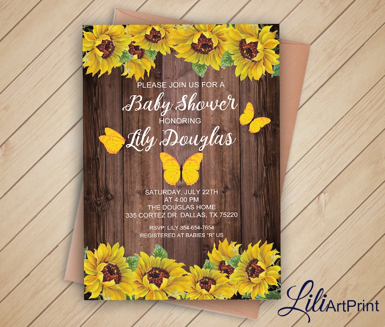 Sunflower Baby Shower invite Thanks Card Sunflower Baby Shower Invitation Diaper Raffle Tickets Digital file 30 Bring a Book