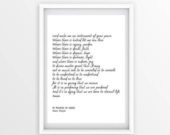 photograph regarding St Francis Prayer Printable titled St francis printable Etsy