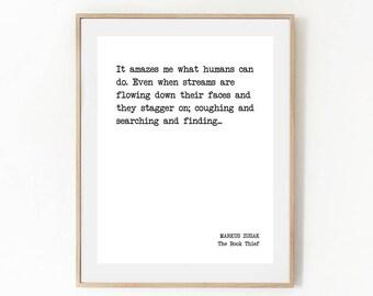 The book thief art | Etsy