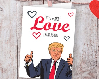 Trump Valentines Day Card I Would Never Deport You Funny Etsy
